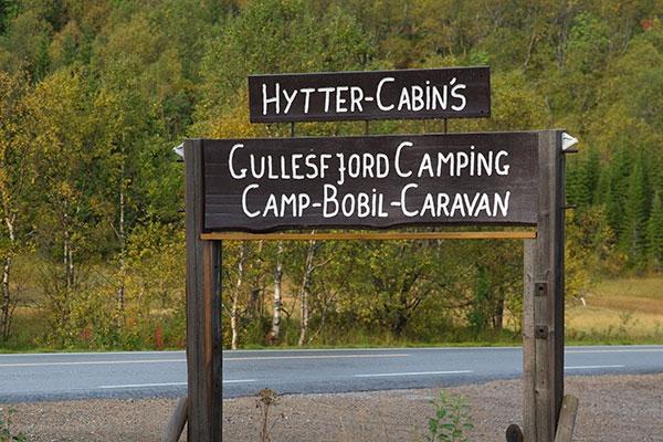 Bilde av skilt for Gullesfjord Camping